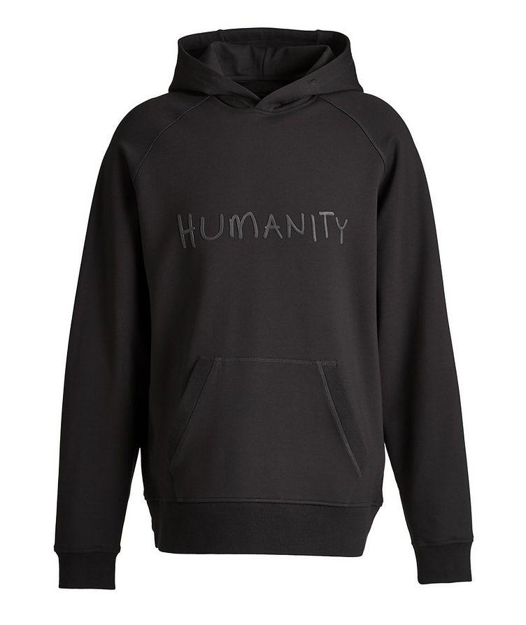 Black HUMANITY Jersey Hoodie image 0