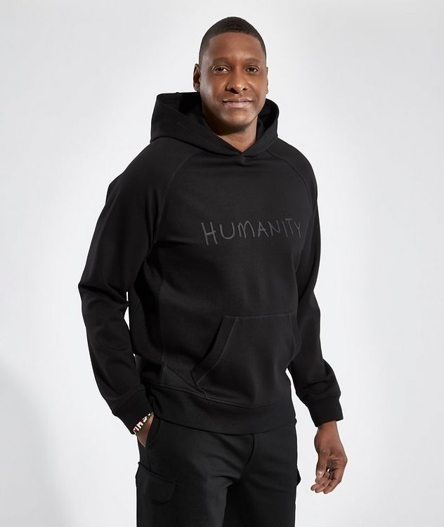 Black HUMANITY Jersey Hoodie picture 2