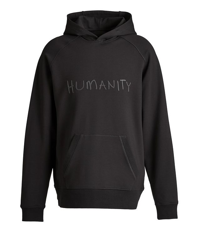 Black HUMANITY Jersey Hoodie picture 1