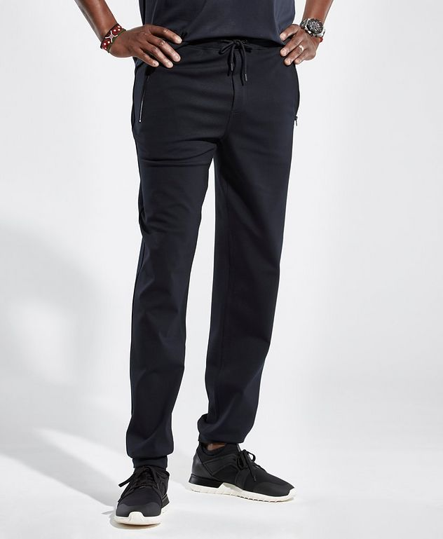 Navy Jersey Track Pants picture 2