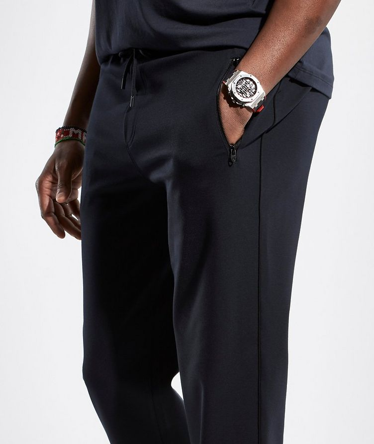 Navy Jersey Track Pants image 2