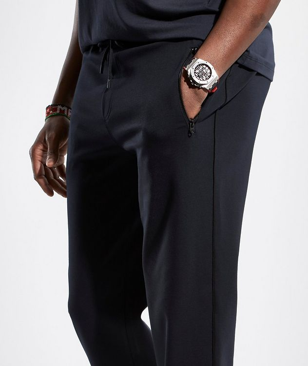 Navy Jersey Track Pants picture 3