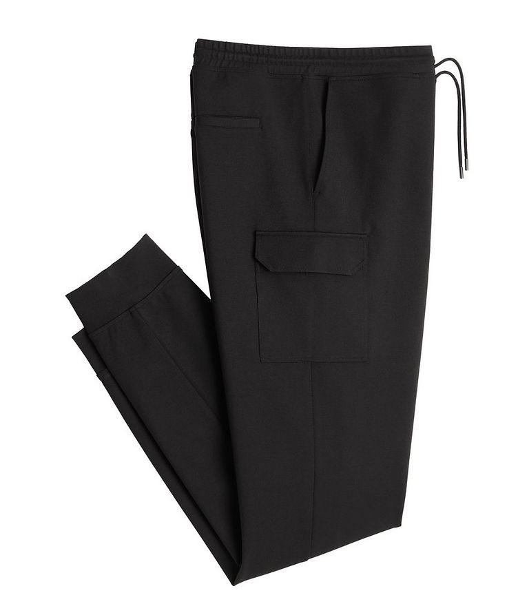 Black Cargo Jersey Joggers image 0