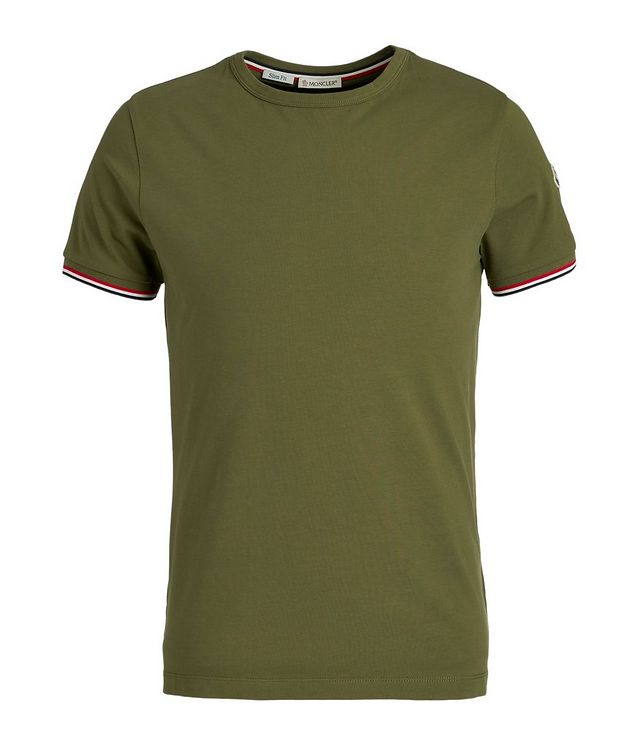 Slim-Fit Maglia Stretch-Cotton T-Shirt picture 1
