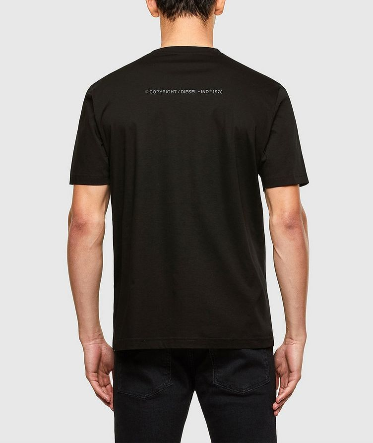 Tonal Fishbone Print T-Shirt image 1