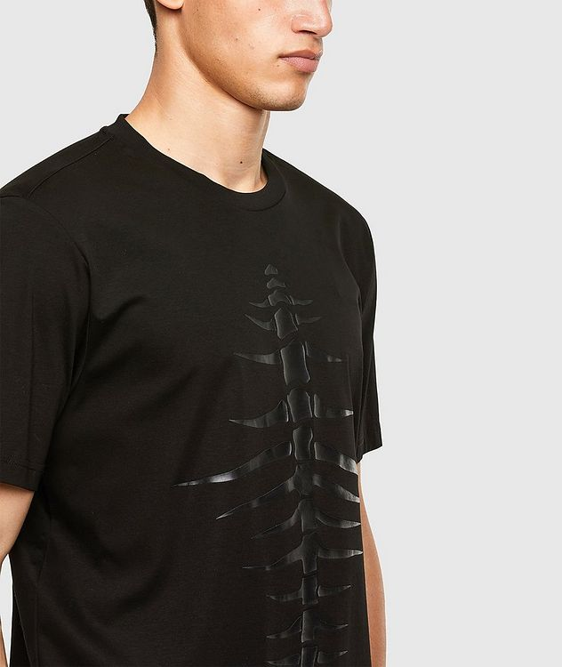 Tonal Fishbone Print T-Shirt picture 3