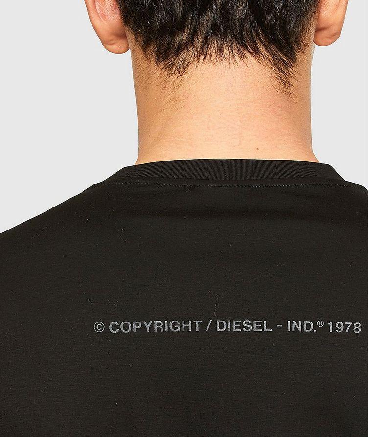 Tonal Fishbone Print T-Shirt image 3