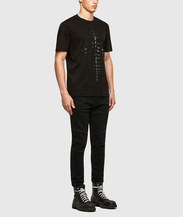 Tonal Fishbone Print T-Shirt picture 5