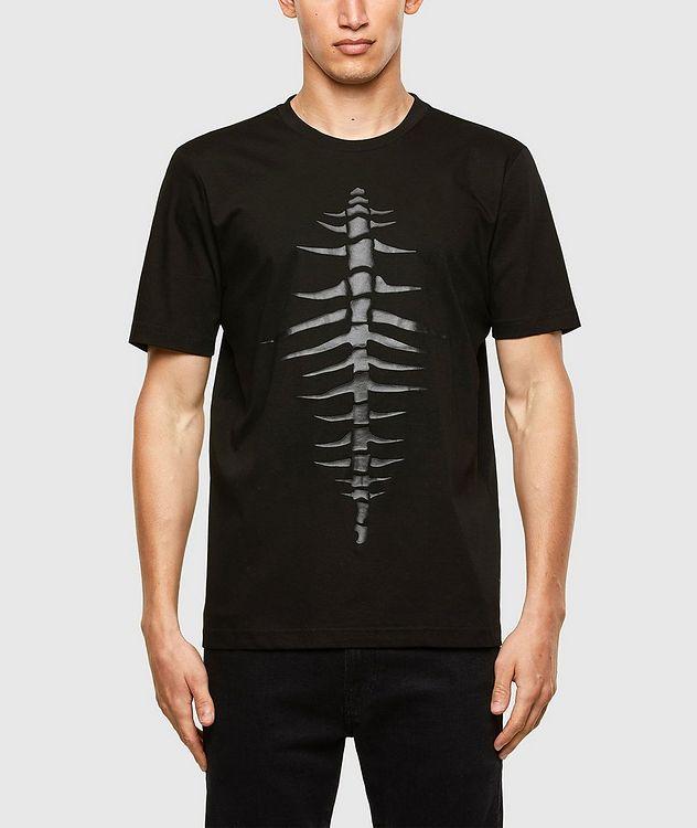 Tonal Fishbone Print T-Shirt picture 1