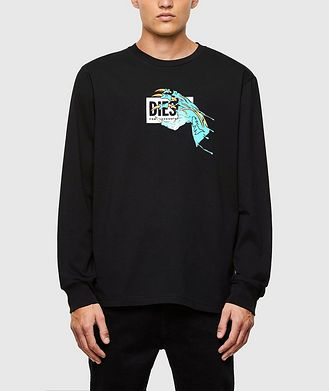 Diesel Monster Claw Print Long Sleeve T-Shirt