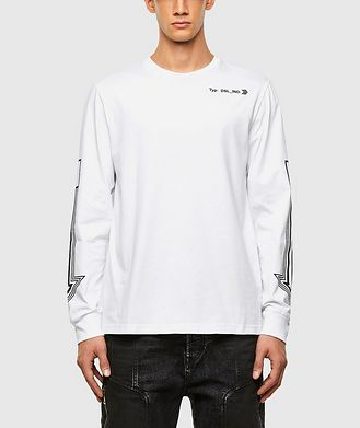 Diesel Arrow Print Long Sleeve T-Shirt