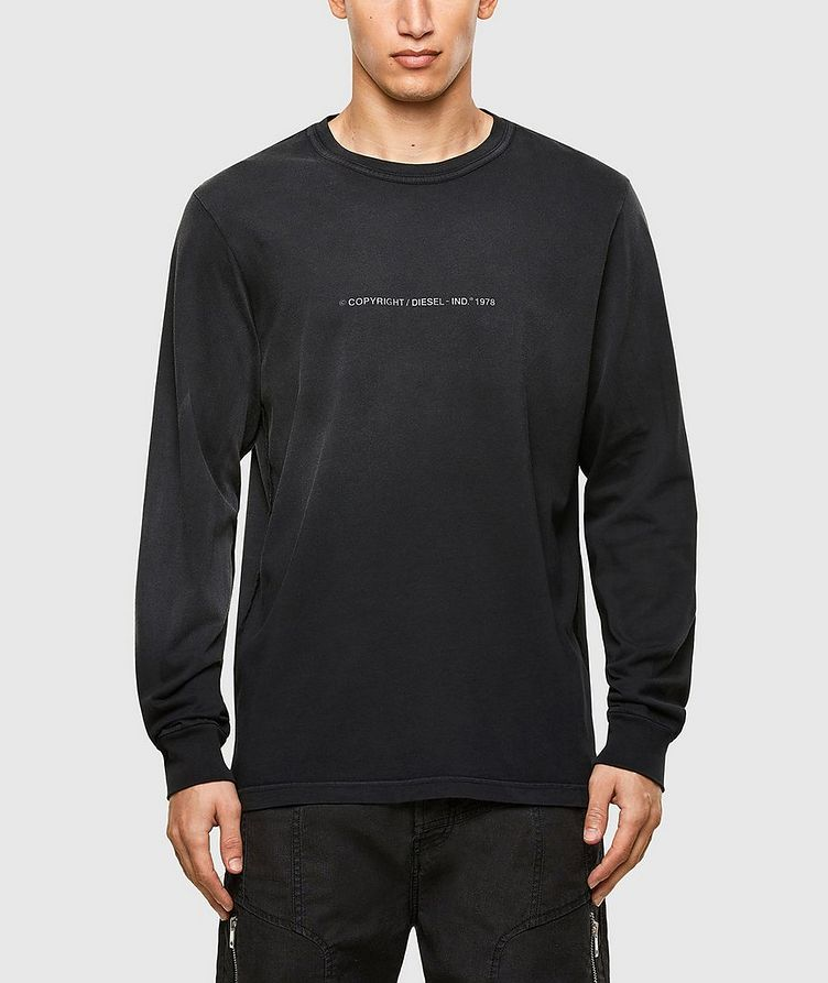 Faded Treatment Long Sleeve T-Shirt image 0