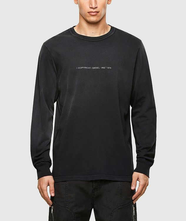 Faded Treatment Long Sleeve T-Shirt picture 1