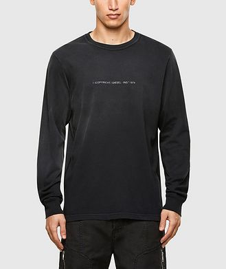 Diesel Faded Treatment Long Sleeve T-Shirt