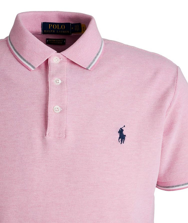 Slim-Fit Stretch Mesh Polo image 1