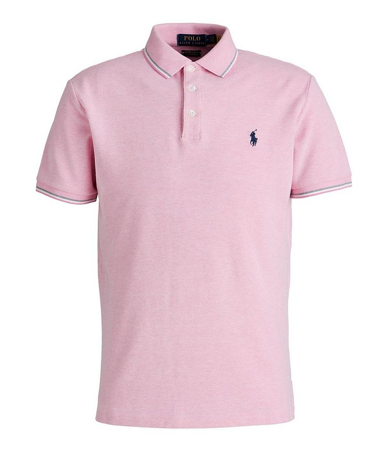 Slim-Fit Stretch Mesh Polo image 0