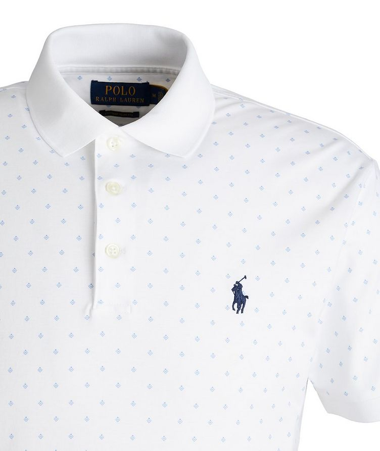 Slim-Fit Printed Cotton Polo image 1
