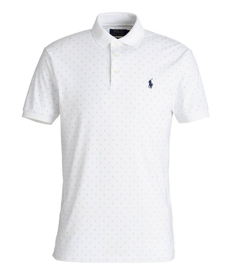 Slim-Fit Printed Cotton Polo image 0
