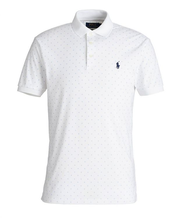 Slim-Fit Printed Cotton Polo picture 1