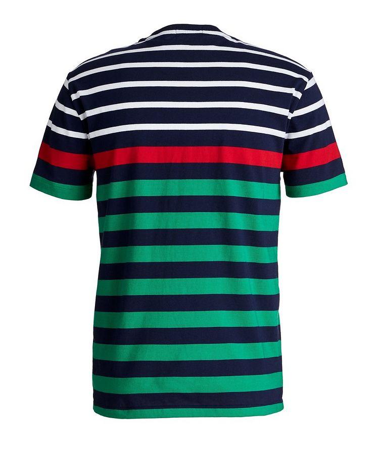 Slim-Fit Striped Cotton T-Shirt image 1