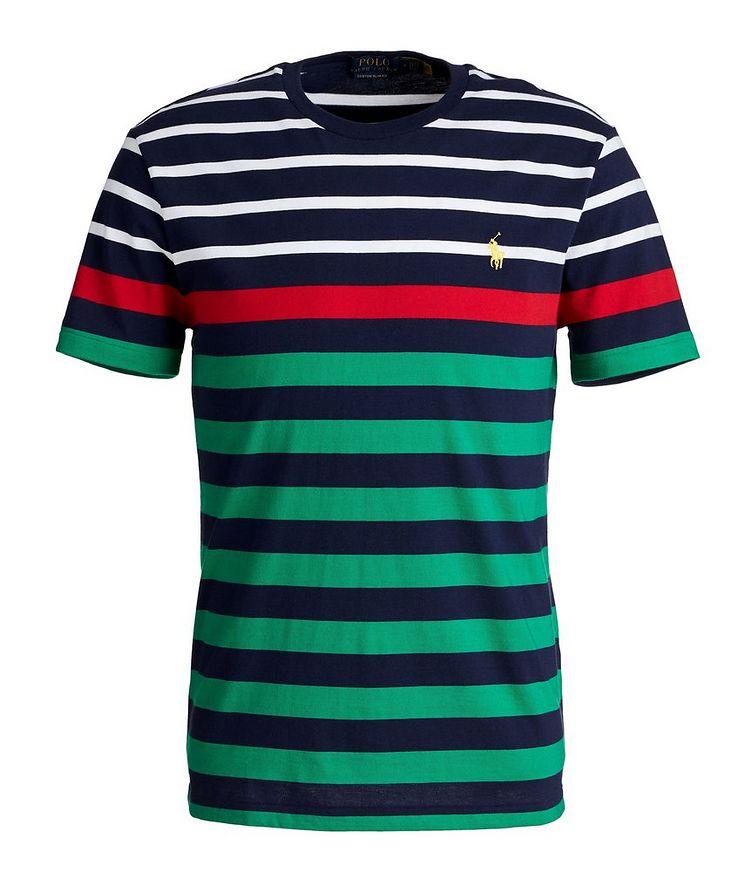 Slim-Fit Striped Cotton T-Shirt image 0