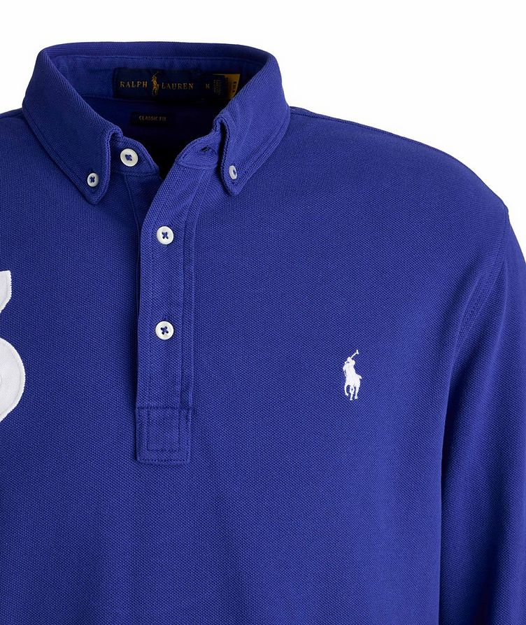 Long-Sleeve Piqué Cotton Polo image 2