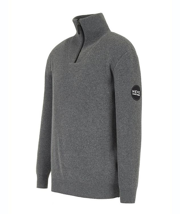 Neve Half-Zip Wool-Cashmere Sweater picture 2