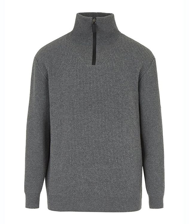 Neve Half-Zip Wool-Cashmere Sweater picture 1
