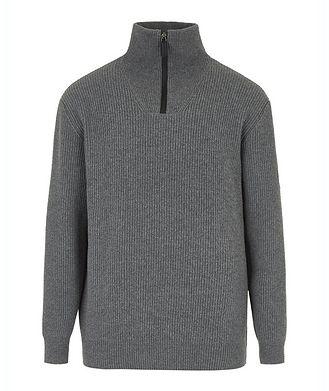 Giorgio Armani Neve Half-Zip Wool-Cashmere Sweater
