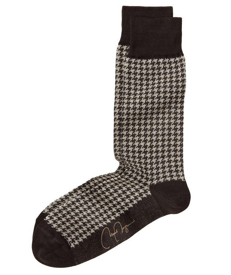 Houndstooth Stretch-Cotton Socks image 0