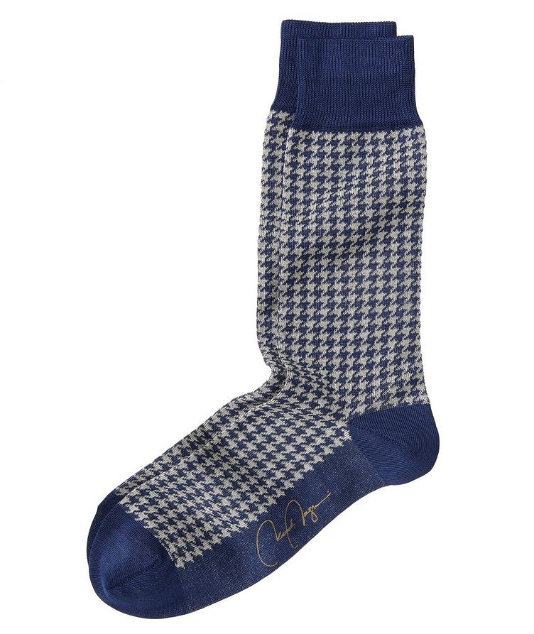 Houndstooth Stretch-Cotton Socks image 0