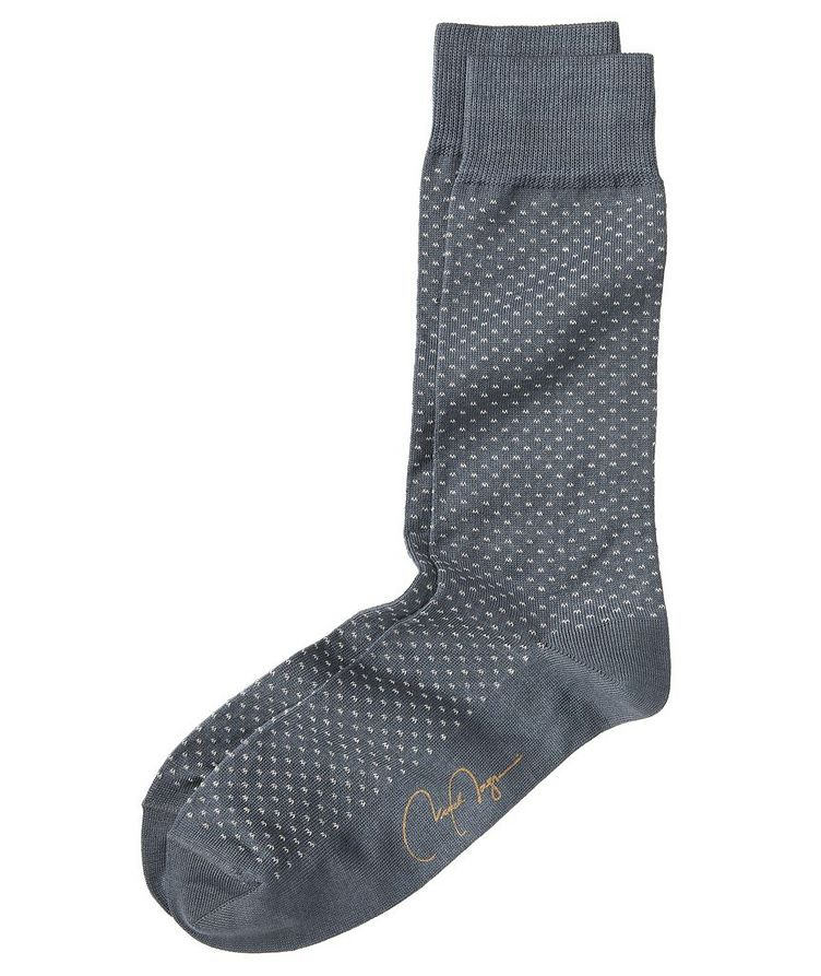Dotted Stretch-Cotton Socks image 0