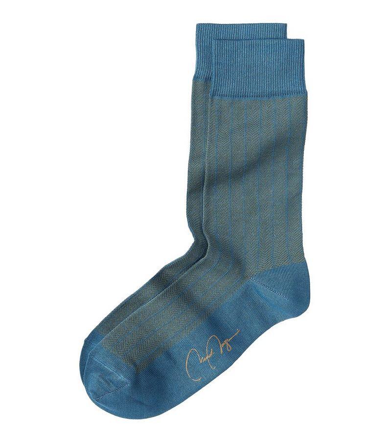 Herringbone Stretch-Cotton Socks image 0