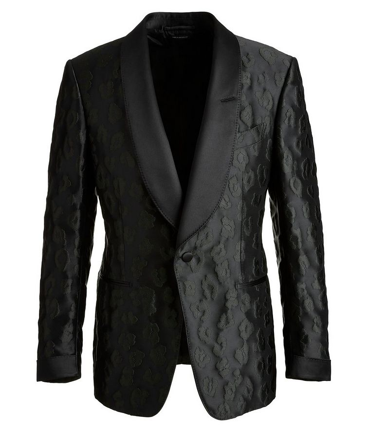 Shelton Leopard Tuxedo Jacket image 0