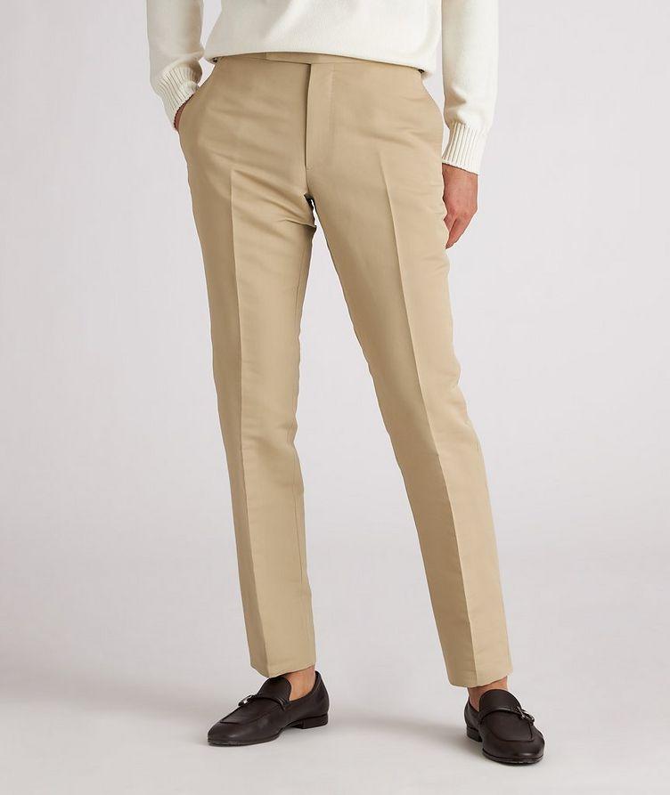 Shelton Slim-Fit Cotton-Silk Dress Pants image 1