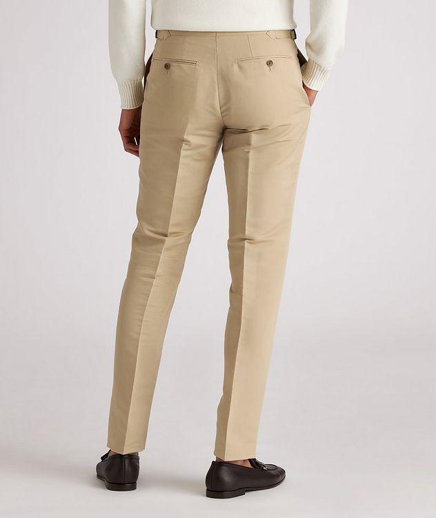 Shelton Slim-Fit Cotton-Silk Dress Pants picture 3