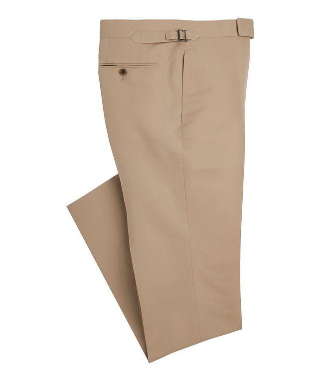Shelton Slim-Fit Cotton-Silk Dress Pants picture 1