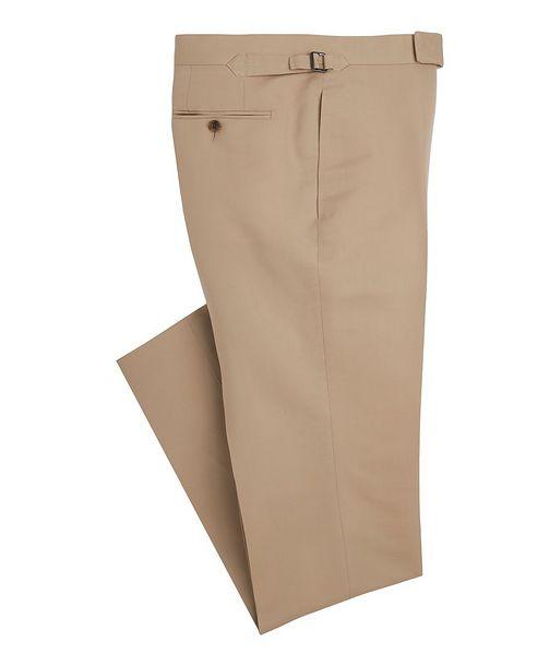 TOM FORD Shelton Slim-Fit Cotton-Silk Dress Pants