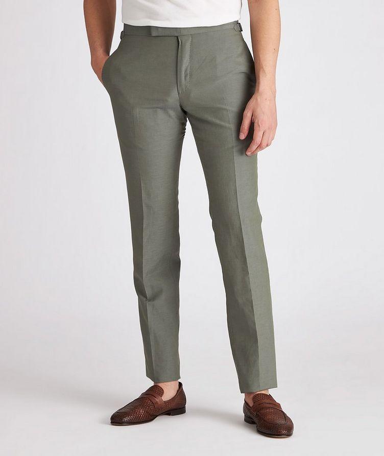 Shelton Silk-Linen Dress Pants image 1
