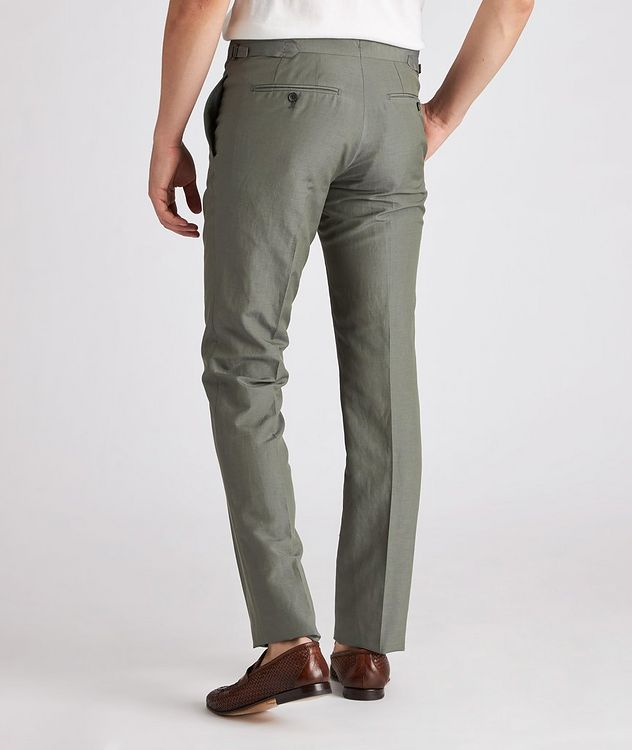 Shelton Silk-Linen Dress Pants picture 3