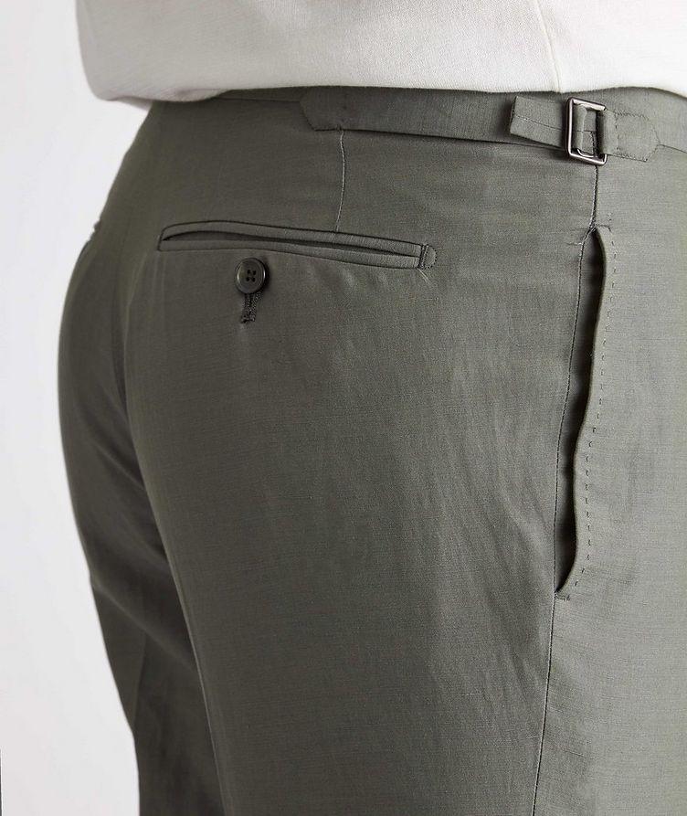 Shelton Silk-Linen Dress Pants image 3