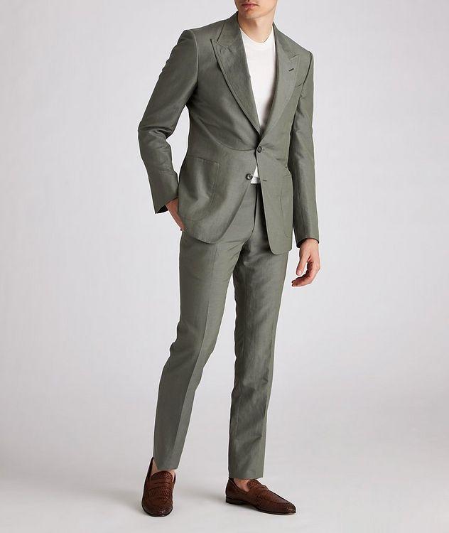 Shelton Silk-Linen Dress Pants picture 5