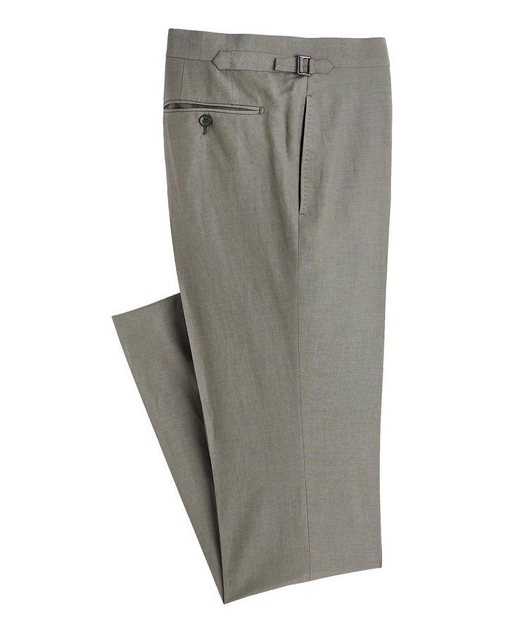 Shelton Silk-Linen Dress Pants image 0