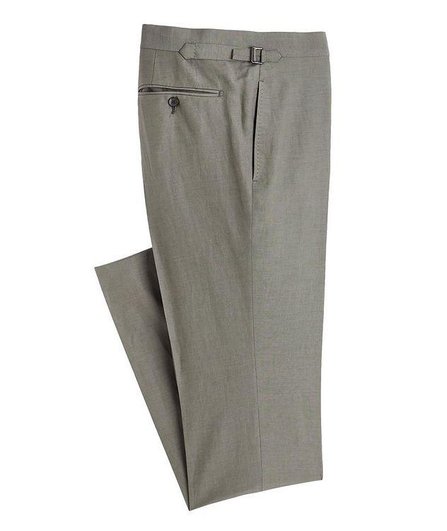 Shelton Silk-Linen Dress Pants picture 1