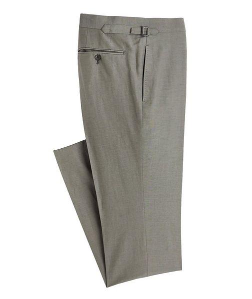 TOM FORD Shelton Silk-Linen Dress Pants