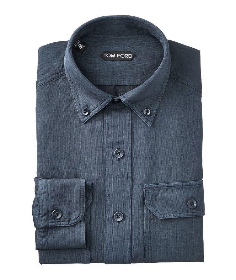 Linen-Cotton Utility Shirt image 0