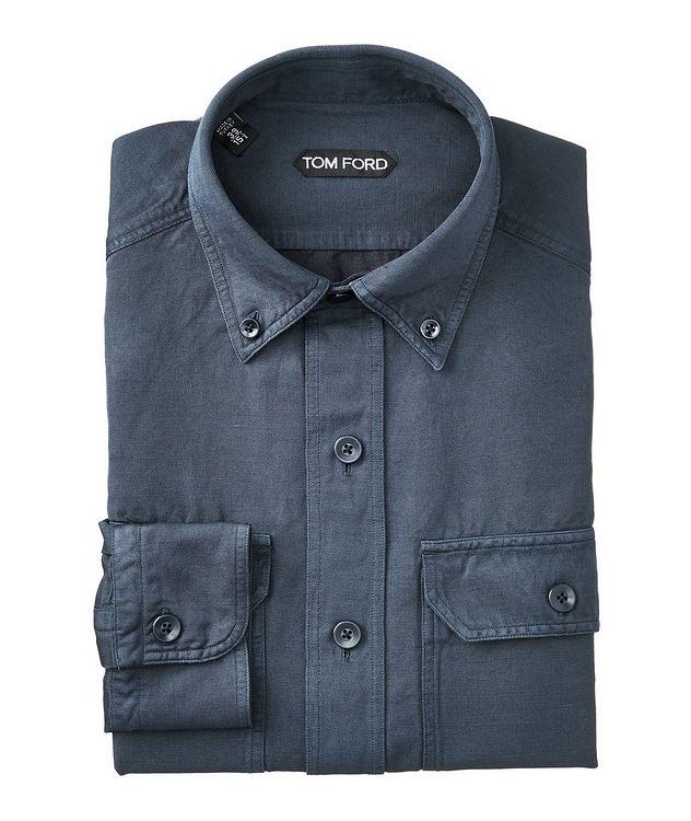 Linen-Cotton Utility Shirt picture 1