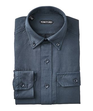 TOM FORD Linen-Cotton Utility Shirt