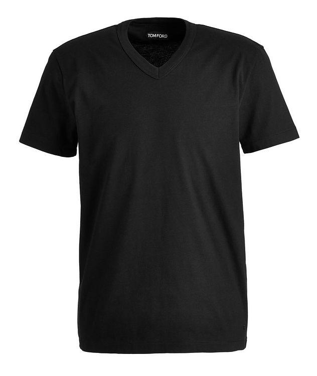 Cotton V-Neck T-Shirt picture 1