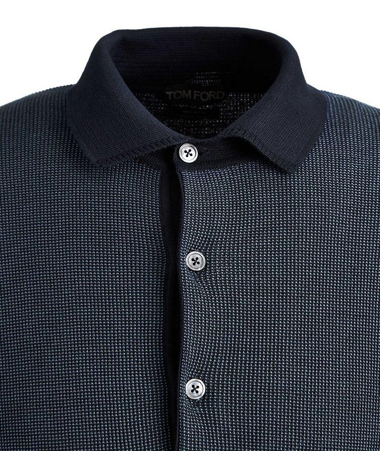 Knit Silk-Cotton Polo image 1
